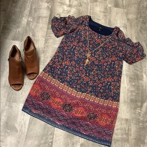 Floral Dress with Necklace
